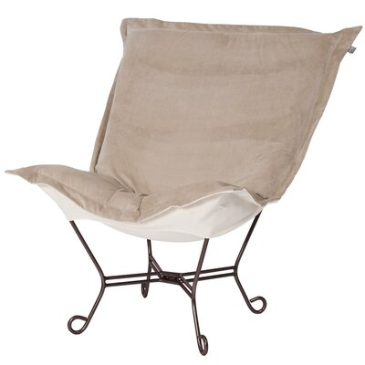 Azaria Scroll Lounge Chair Upholstery: Bella Sand Natural