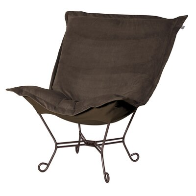Azaria Scroll Lounge Chair Color: Bella Chocolate Brown