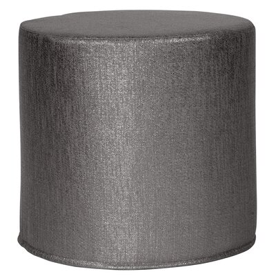 Contreras Pouf Upholstery: Glam Zinc