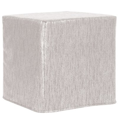 Contreras Block Ottoman Upholstery: Glam Sand