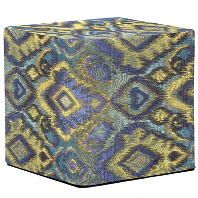 Marvi Block Ottoman Upholstery: Opal Pacific