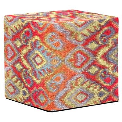 Marvi Block Ottoman Upholstery: Opal Fire