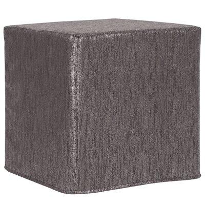 Contreras Block Ottoman Upholstery: Glam Zinc