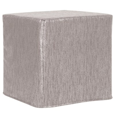 Contreras Block Ottoman Upholstery: Glam Pewter