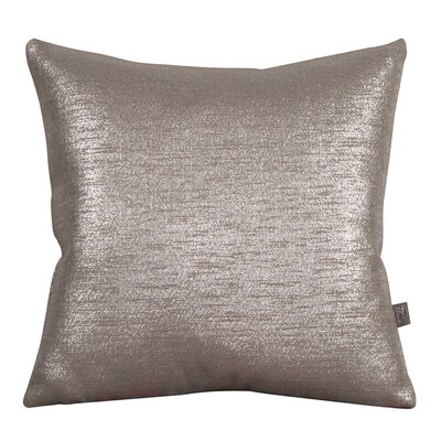 Abshire Throw Pillow Size: 16 H x 16 W x 8 D, Color: Glam Pewter