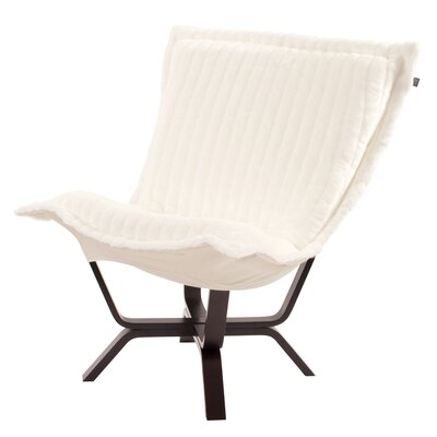 Baitz Puff Chair Color: Mink Snow