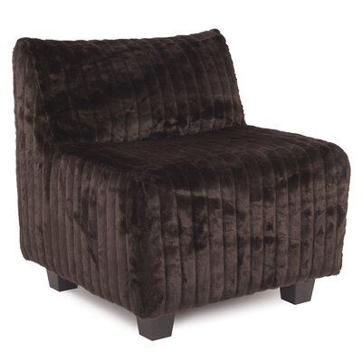 Cunningham Slipper Chair Color: Mink Brown
