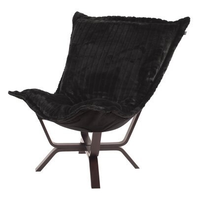 Baitz Puff Chair Color: Mink Black