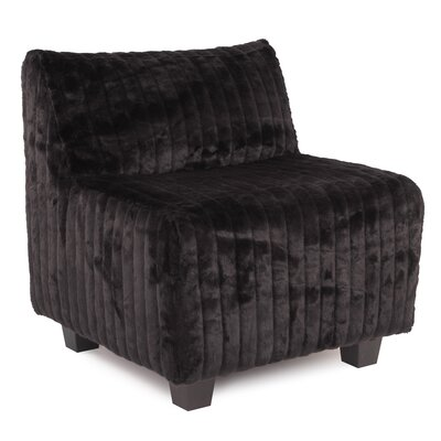 Cunningham Slipper Chair Upholstery: Mink Black