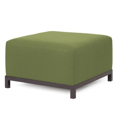 Woodsen Ottoman Finish: Mahogany, Fabric: Moss