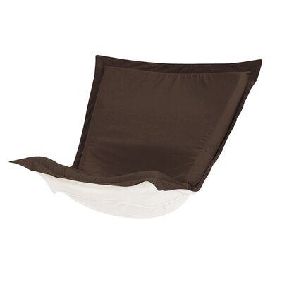 Puff Chair Cover Color: Seascape Chocolate