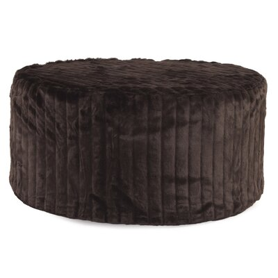 Bancroft Woods Round Ottoman Upholstery: Brown