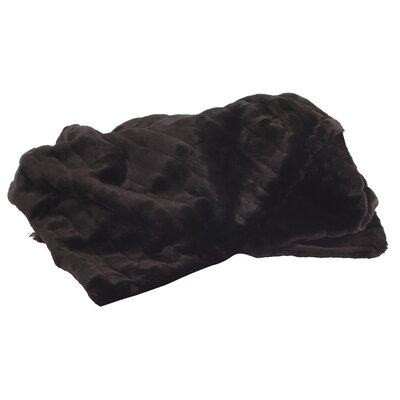 Alexandrea Faux Fur Throw Color: Mink Black