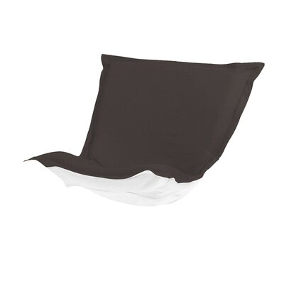 Puff Chair Cover Color: Seascape Charcoal
