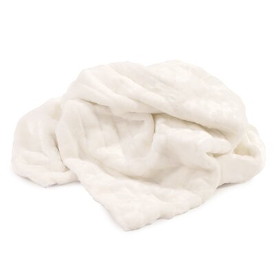 Alexandrea Faux Fur Throw Color: Mink Snow