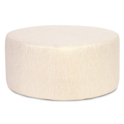 Alas Round Polyester Ottoman Slipcover Upholstery: Snow