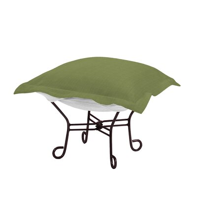 Claribel Puff Ottoman Frame Finish: Mahogany, Fabric: Seascape Moss