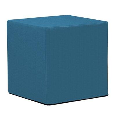 Contreras Block Ottoman Fabric: Sunbrella� Acrylic - Seascape Turquoise