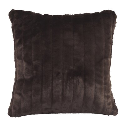 Nia Throw Pillow Size: Large, Color: Mink Brown