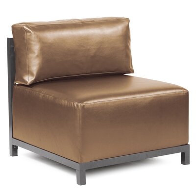 Woodsen Box Cushion Armchair Slipcover Upholstery: Bronze