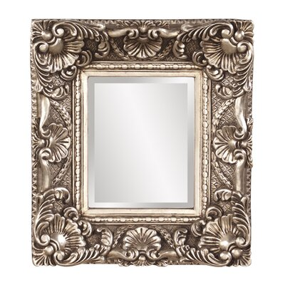Rectangle Antique Silver Resin Mirror
