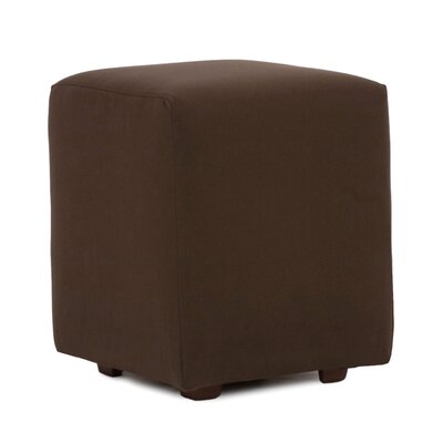 Fenham Ottoman Fabric: Sunbrella� Acrylic - Seascape Chocolate