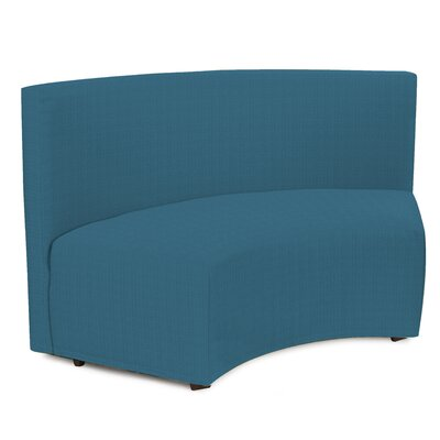 Mattingly Radius In-Curve Sofa Upholstery: Seascape Turquoise