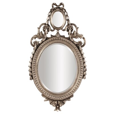 Oval Antique Silver Resin Mirror