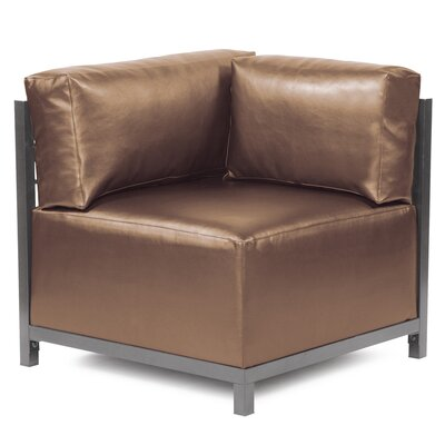 Woodsen Shimmer Corner Chair Frame Finish: Titanium, Color: Bronze