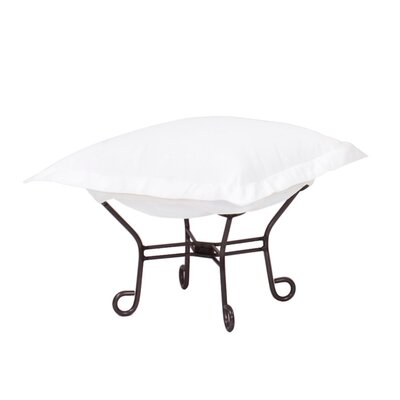 Claribel Puff Ottoman Frame Finish: Mahogany, Fabric: Seascape Natural
