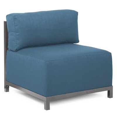 Woodsen Box Cushion Armchair Slipcover Upholstery: Seascape Turquoise