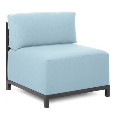 Woodsen Box Cushion Armchair Slipcover Upholstery: Seascape Breeze