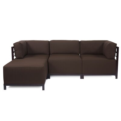 Woodsen Left Hand Facing Sectional Finish: Titanium, Color: Seascape Chocolate