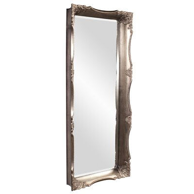 Rectangle Brushed Pewter Wood Mirror