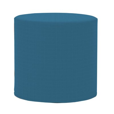 Contreras Cylinder Ottoman Fabric: Sunbrella� Acrylic - Seascape Turquoise