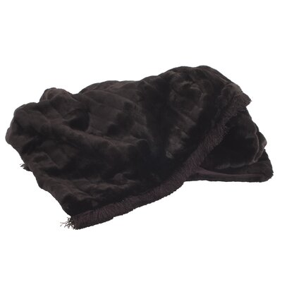 Alysha Throw with Fringe Color: Mink Black