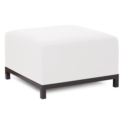 Woodsen Ottoman Finish: Mahogany, Fabric: Natural