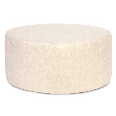 Alas Round Ottoman Upholstery: Snow