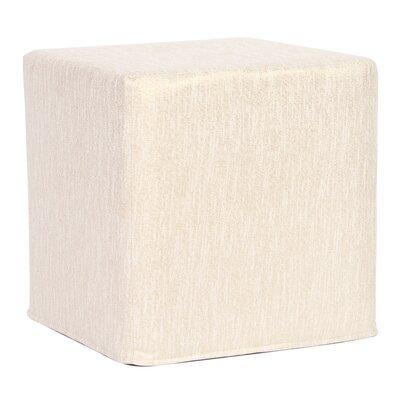 Alas Block Ottoman Upholstery: Snow