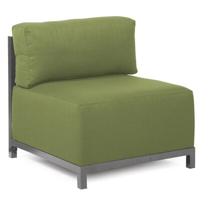 Woodsen Box Cushion Armchair Slipcover Upholstery: Seascape Moss