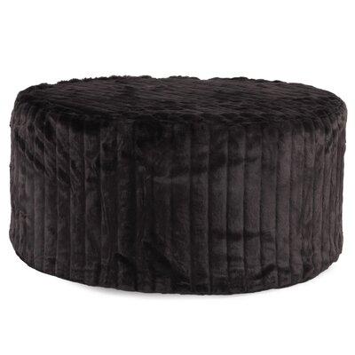Bancroft Woods Round Ottoman Upholstery: Black