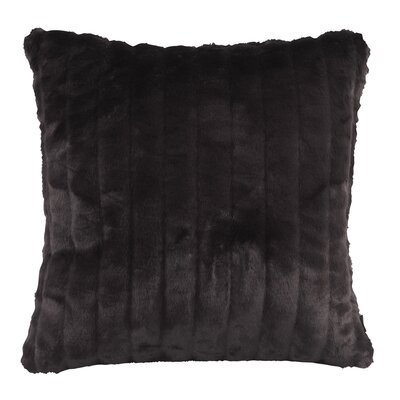 Nia Throw Pillow Size: Large, Color: Mink Black