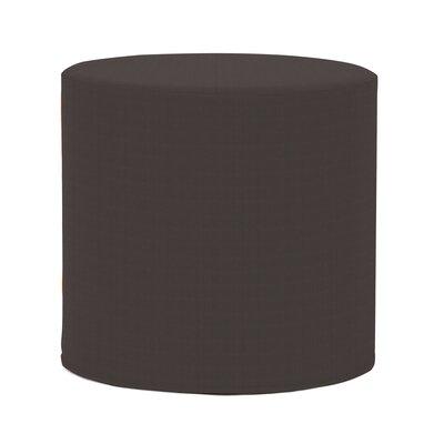 Contreras Cylinder Ottoman Fabric: Sunbrella� Acrylic - Seascape Charcoal