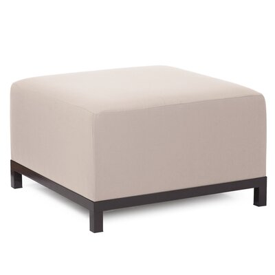 Woodsen Ottoman Finish: Titanium, Fabric: Sand