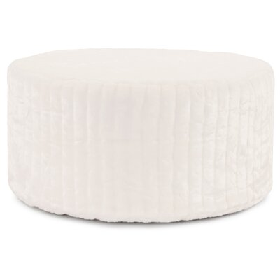 Bancroft Woods Pouf Upholstery: Snow