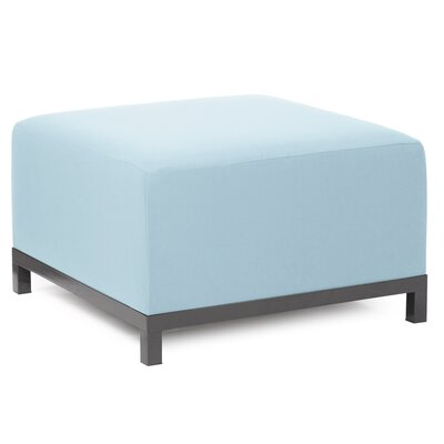 Woodsen Ottoman Finish: Titanium, Fabric: Breeze