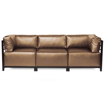 Woodsen Shimmer Sectional Frame Finish: Mahogany, Upholstery: Bronze