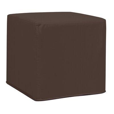 Contreras Block Ottoman Fabric: Sunbrella� Acrylic - Seascape Chocolate