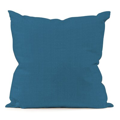 Sandalwood Outdoor Sunbrella Throw Pillow Fabric: Seascape Turquoise