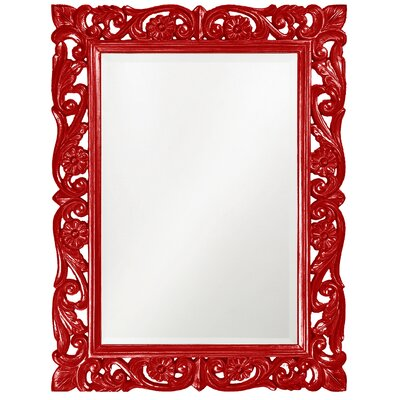 Rectangle Resin Frame Mirror Finish: Red